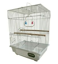More details for heritage cages warwick budgie finch bird cage 30x23x39cm budgies canary home pet
