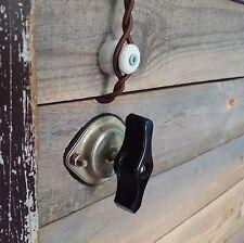 Vintage Interruptor De Luz De Baquelita Metal Industrial Rotativo Interruptor Encendido Apagado