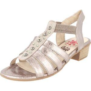 Relife Damen Schuhe Slipper bis Gr.44 Pumps 9067-19704-04 Stone Perlen Glitzer