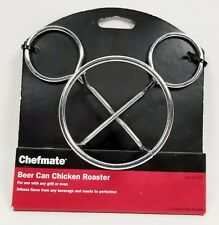 Chefmate Beer Can Chicken Roaster for Charcoal, Gas, Electric Grills & Ovens