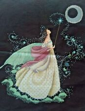 """LARGE LUXURY Finished Cross Stitch Needlepoint""""MOON FAIRY""""Home Wall Decor Gifts"""