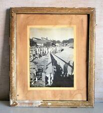 Antique Old Indian Bridge Construction Black & White Framed Camera Photograph