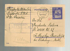 1943 Warsaw GG Poland Postcard Cover to Ravensbruck Germany Concentration Camp