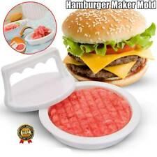 Burger Press Hamburger Maker Mould Non Stick Beef Patty BBQ NEW Kitchen H1A5