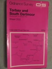 OS Map of TORBAY & SOUTH DARTMOOR sheet 202 / 1:50 1st series