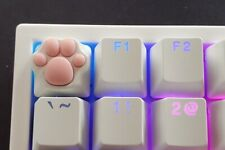 Cat Paw Keycaps Artisian Squishy Mechanical Keyboard Cute White Pink Squishy