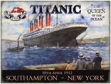 Titanic, Queen of the Ocean, Liner, Ships & boats, Picture, Large Metal/Tin Sign