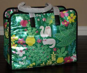💚 KATE SPADE Morley Garden Posy Cat Large Tote Bag Shoulder Purse Handbag NWT