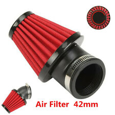 Adjustable 42mm 45° Bend High Flow Air Intake Filter For Motorcycles Scooter