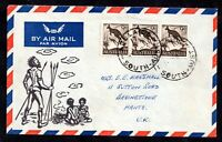 Australia 3 x 9d on illustrated Aboriginal Airmail Cover to UK WS18275