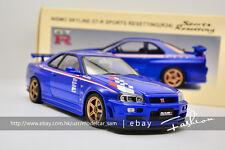 Autoart 1:18 nissan skyline GTR R34 Nismo Sport Resetting V blue