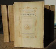 EMILE RAUNIE RECUEIL CLAIRAMBAULT-MAUREPAS CHANSONNIER HISTORIQUE XVIIIe COMPLET