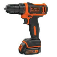Black Decker 12-Volt MAX Lithium-Ion Cordless 3/8 in. Drill with Battery 1.5Ah a