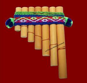 Mini-Panflöte Bambus 10 cm 7 Röhren Peru Indianer Inka Musik Indio Kostüm Flöte