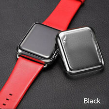 Slim Full Cover Metal Case Glass Screen Protector iWatch Series 1/ 2/ 3 38/42mm
