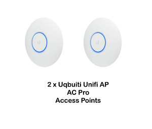 Lot of 2 Ubiquiti Networks UniFi AP AC Pro (UAP-AC-PRO) Wireless Access Points