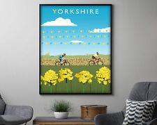 Yorkshire Cycling Vintage Travel Poster Art Print