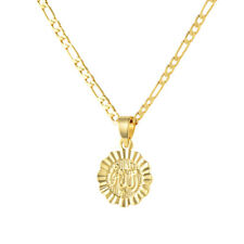 """Muslim Religious God Allah 18K Gold Plated Round Pendant Necklace Jewelry 24"""""""