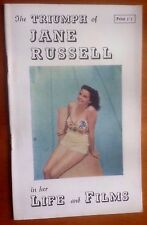 THE TRIUMPH OF JANE RUSSELL Vintage Fan Magazine (Inc The Outlaw)