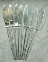 Cosmos CSM58 Forged Stainless Flatware 8 Knives Swirl Loop Japan Mid Century EUC