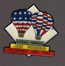 Pin's Pompier / jeux mondiaux - sapeurs pompiers - Colorado USA 1993 (zamac)