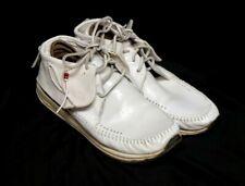 Visvim FBT Lattice White Leather Japanese Shaman Mocassin Yohji Yamamoto Y-3