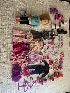 my life doll and  accessories lot Blonde Hair Doll With Blue Eyes