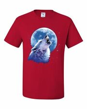 Call of the Wild T-Shirt Lone Wolf Howling at the Moon Wildlife Tee Shirt