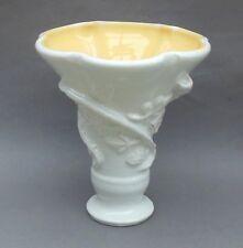 More details for large vintage brannam pottery vase ~ moulded white blackberry ~ 25cm ~ devon