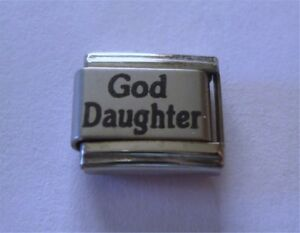 9mm Italian Charm L107 Christening God Daughter Goddaughter Fits Classic Size