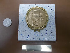 MEDIA COMMUNICATIONS New Plaque Title AWARD-GIFT w/Gold Wreath +Insert FAST SHIP