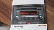 Audi A3 8P Radio Concert