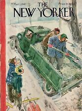 1947 New Yorker March 1 - Spreading Salt on the road by Birnbaum