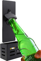 Simple Wall Mounted Magnet Beer Bottle Opener With Cap Collector Catcher for Kit