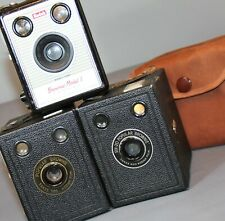 3 KODAK BROWNIE BOX medium-format film Cameras MODEL I, POPULAR & SIX-20 all VGC