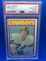 1972 TOPPS FOOTBALL BOB LILLY HOF PSA 8 (OC) NM-MT #145 DALLAS COWBOYS