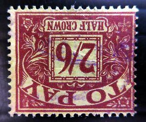 GB 1959 - 2/6 Postage Due Sideways/WMK SGD65Wi Cat £15 SEE BELOW NR597
