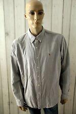 RALPH LAUREN Camicia Uomo Shirt Grigio Manica Lunga Cotone Chemise Taglia 2XL