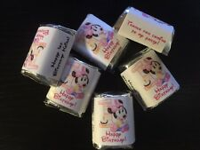 90 Personalized Birthday Candy Wrappers Nugget favors  labels Baby Minnie Mouse