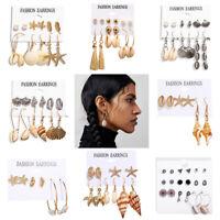 1Set Boho Shell Pearl Tassel Earrings Set Women Ear Studs Dangle Jewelry G ST