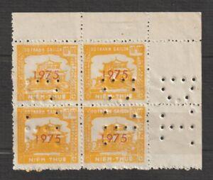 """Vietnam Stamps Block 4 Đô Thành Sài Gòn """" Tem Niêm Thu��́ """" MNH"""