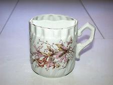 Beautiful Antique Pre 1890 German Porcelain Mustache Mug With Pink Flowers