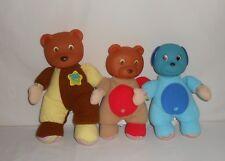 Lot of 3 KS Toys Plush Musical Light Up Night Night Pals – 2 Bears, 1 Dog