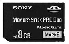 8GB Mark2 Memory Stick Card MS Pro Duo For SONY PSP CAMERA One Year Warranty!
