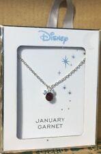 Licenced Disney Mickey Mouse Ears Silver Birthstone Necklace & Pendant Primark January Garnet