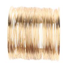 Rigid Memory Wire Metal Circle Split Coil Wire Cuff Bracelet Bangle Gold