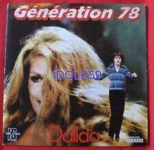 Disques vinyles singles pour chanson française Dalida