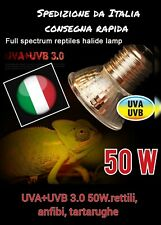 Lampadina lampada faretto spot  UVA+UVB 3.0 50W.rettili, anfibi, tartarughe
