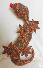 "Soft Sculpture Lizard Gecko 15"" Tribal Print Fabric"