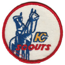 "1975-76 KANSAS CITY SCOUTS NHL HOCKEY VINTAGE 3"" ROUND DEFUNCT TEAM PATCH"